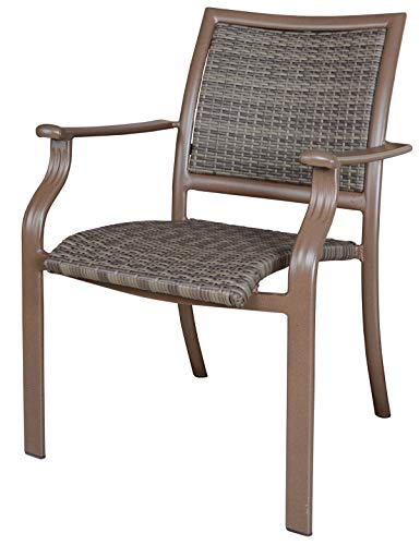 Panama Jack Outdoor Island Cove Woven Stackable Armchair