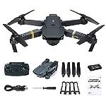 [by Mollikar] Quadcopter Drone with Camera Live Video, E58 WiFi FPV Quadcopter with 120° Wide-Angle 720P HD Camera Foldable Drone RTF 3D Flip, APP Control(Black,17.5 x 16 x 7 cm)