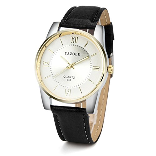 Perman Yazole Mens Watches   34 X 10 Mm Greek Numerals Index Dial   Quartz Analog Pointer   24Mm Artificial Leather Hook Buckle Band Watches For Men
