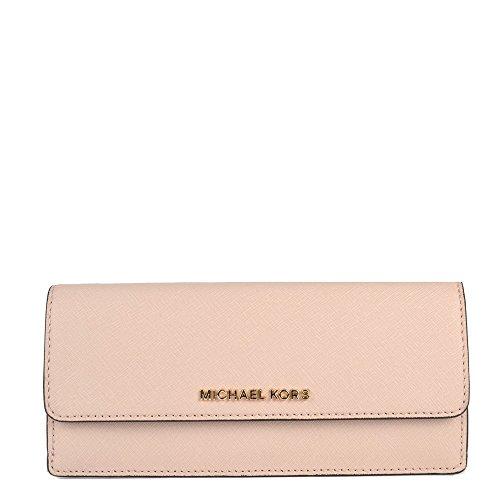 Michael Kors Jet Set Travel Flat Saffiano Leather Wallet (Ballet Pink)