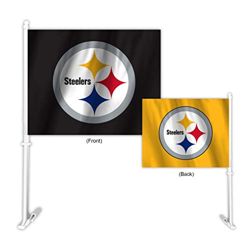 Football Car Flag - Fremont Die NFL Pittsburgh Steelers Home & Away Car Flag