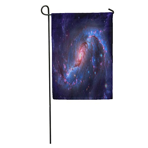 (Semtomn Garden Flag Stellar Nursery in The Arms of NGC 1672 is Barred Home Yard House Decor Barnner Outdoor Stand 12x18 Inches Flag)