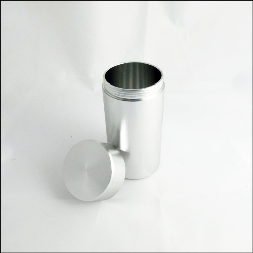 Aluminum Airtight Water Proof Pill Case - Silver ()