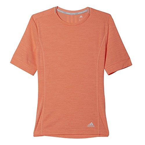 adidas Supernova Short Sleeve Womens Running Top - Orange-L