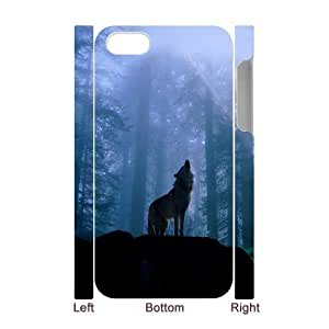 3D Bumper Plastic Case Of Wolf customized case For Iphone 4/4s
