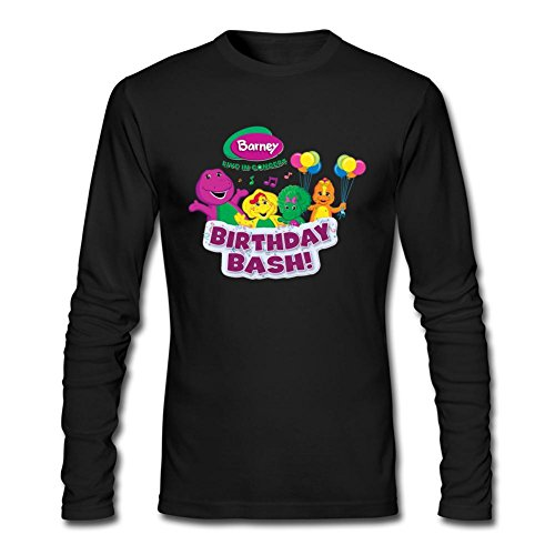 JXK Men's Barney & Friends Birthday Bash Long Sleeve T-shirt XXXL ColorName - Barney And Friends Clothes