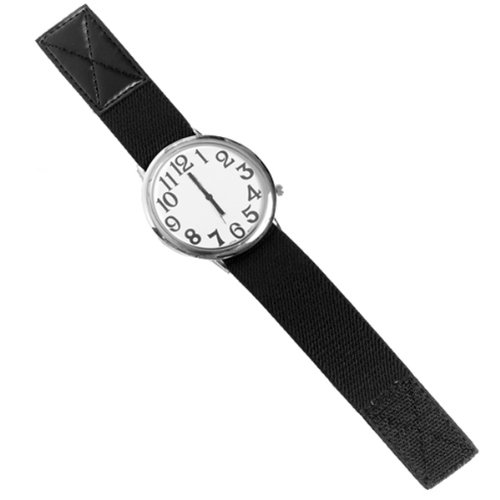 Dino Low Vision Unisex Watch With Fabric Stretch Band by MAGNIFYING AIDS