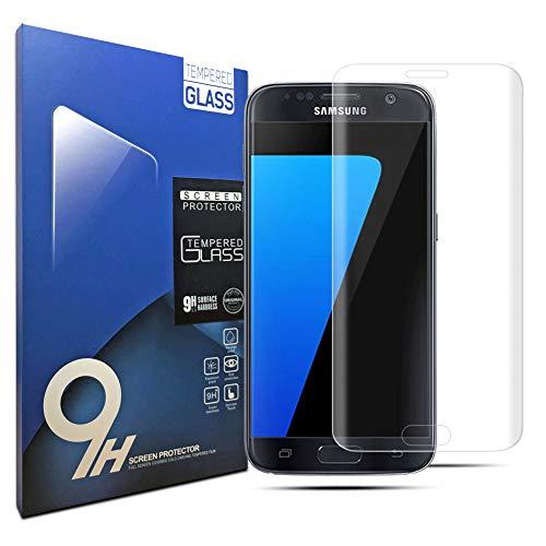 klpdz Panzerglas Schutzfolie für Samsung Galaxy S7, Anti-Öl, 9H Härte, Anti-Kratzen, Panzerglasfolie Gehärtetem Glas Displayschutzfolie für Samsung Galaxy S7