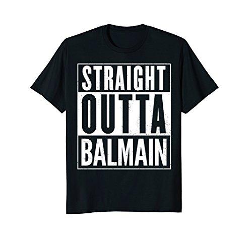 Mens Straight Outta Balmain Funny T-Shirt XL - Shop Men Balmain