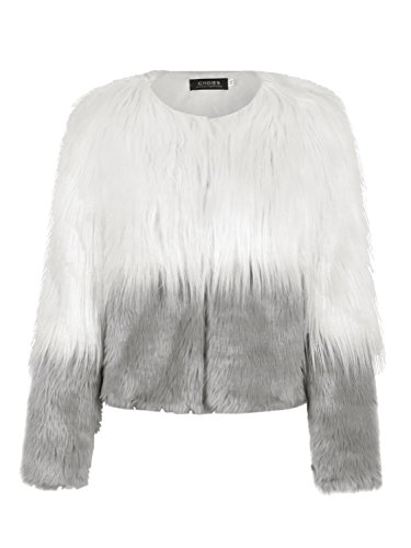 Choies Womens Tone Shaggy Faux