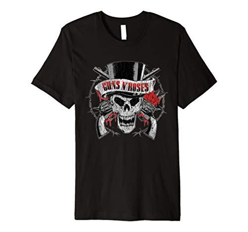 Guns N' Roses Tophat Skull Roses T-Shirt ()