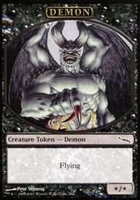 Magic: the Gathering - Demon - Tokens - Token Promos