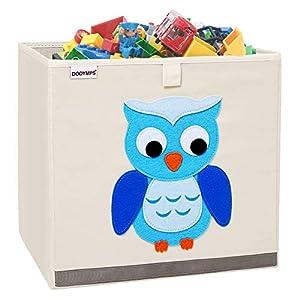 DODYMPS Foldable Animal Toy Storage Bins/Cube/Box/Chest/Organizer for Kids & Nursery, 13 inch (Owl)