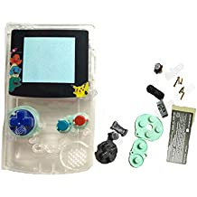 Hot Sale Clear Color For GBC Gameboy Color Multi Color Buttons Full Housing Shell Replacement Cover With Cartoon Screen Lens Version