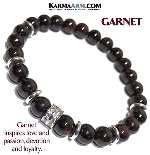 - Love Bracelet | HAPPINESS : Garnet | Chakra Yoga Reiki Healing Energy Zen Meditation Jewelry | Wellness Self-Care Bracelets