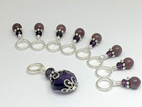 Purple Crystal Stitch Marker Charm Jewelry