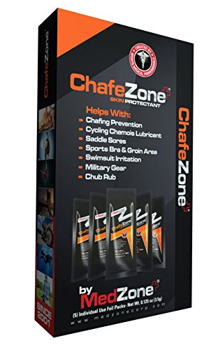 MedZone ChafeZone - Anti Chafe, Skin Protectant, Prevents chafing and blisters, Long lasting chafing relief, Waterproof anti chafe balm, Glides on smooth for easy application.