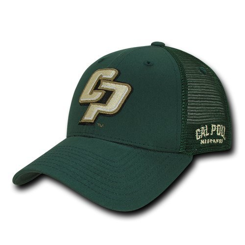 W Republic Apparel Structured Trucker Cap, Cal Poly, Hunter, One Size