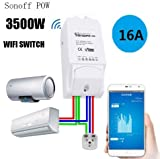 Sonoff Pow WiFi Switch with Power Consumption_Work with amazon Alexa , and Nest thermostat (For Home Automation)