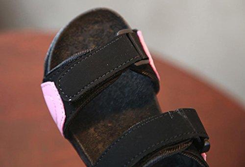 Prevently Unisex-Kinder Sandalen Strandsandalen für Jungen Mädchen Kinder Strand Schuhe Sport Casual Walking Leder Sommer Sandalen Outdoor Sandalen Rosa