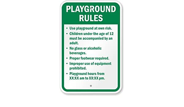 51a5ec22fcc6c Amazon.com: Playground Rules, High Intensity Reflective Aluminum ...
