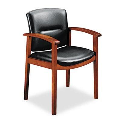 HON 5001JSS11 5000 Series Executive High-Back Swivel and Tilt Chair, Black Leather/Henna Cherry