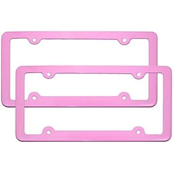 Amazon.com: PlasmaGlow 10126 Pink Neon License Plate Frame: Automotive