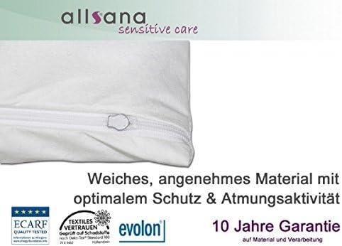 90 x 200 x 16 cm coprimaterasso anallergico allsana per persone allergiche alla polvere antiacaro