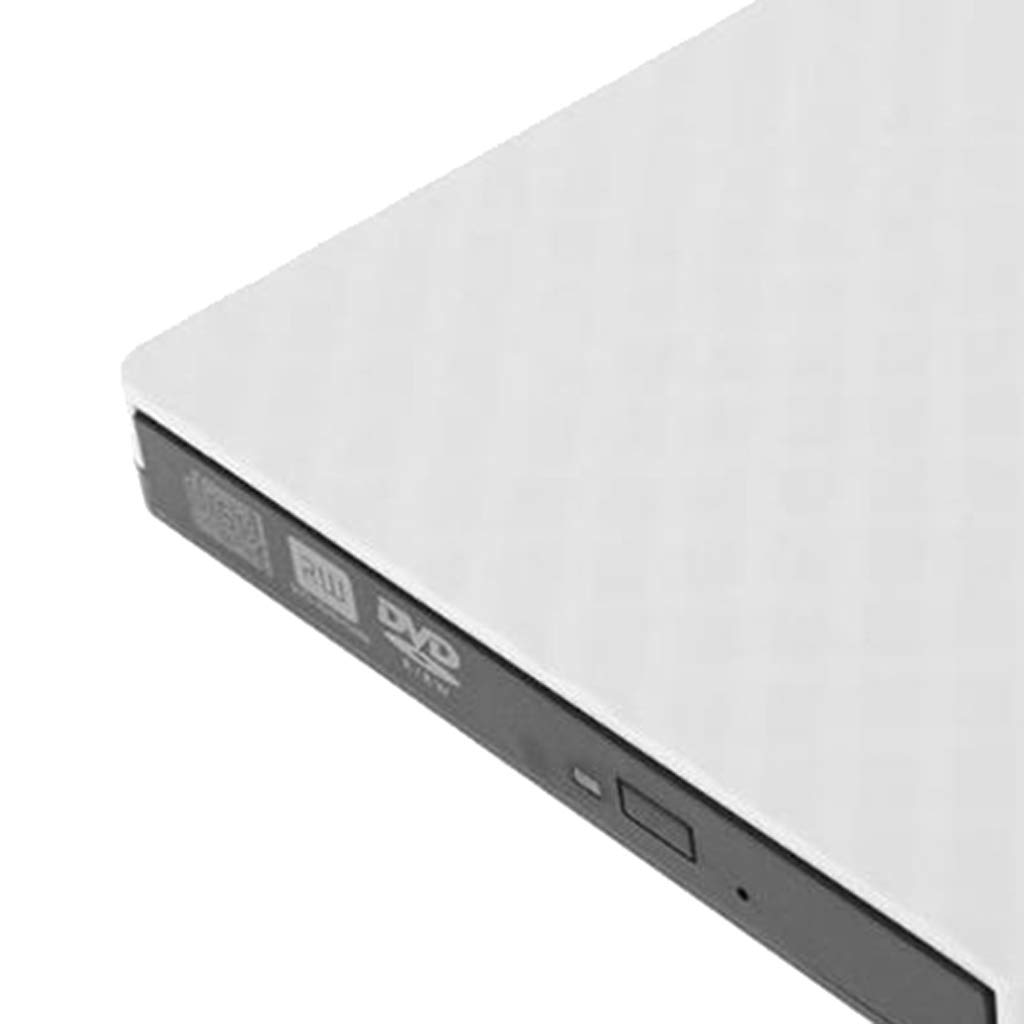 Almencla External USB 3.0 DVD-RW Burner Writer Free Drive for Laptop Desktop White