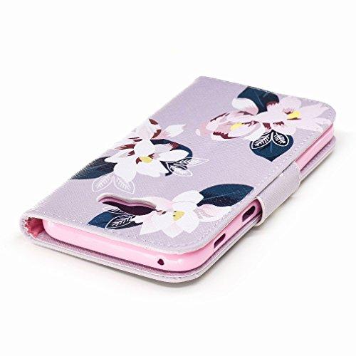 Yiizy Samsung Galaxy A5 (2017) Custodia Cover, Fiore Rosa Design Sottile Flip Portafoglio PU Pelle Cuoio Copertura Shell Case Slot Schede Cavalletto Stile Libro Bumper Protettivo Borsa