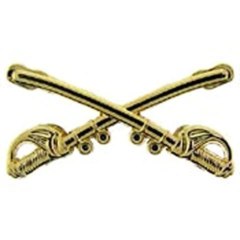 U.S. Army Cavalry Crossed Swords Pin 1 1/8