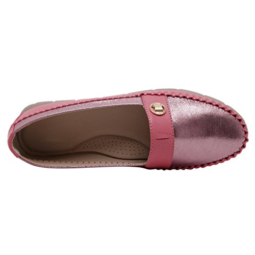 Slip On Moccasins Driving Dear Suede Boat Loafers By Time Shoes Women Red HCq55Ew