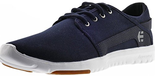 Etnies Scout Marine Blanc Gomme Toile Mens Formateurs Chaussures