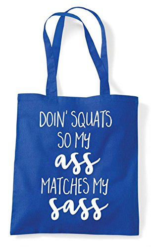 Royal Ass Squats Tote Bag Blue Matches So My Shopper Sass Workout Doing Statement gqnHxRPwq4