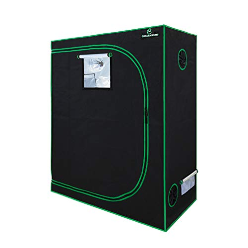 $89.99 indoor grow tent set up GA Grow Tent 48x24x60 Reflective Mylar Hydroponic Grow Tent with Observation Window and Waterproof Floor Tray for Indoor Plant Growing 2019