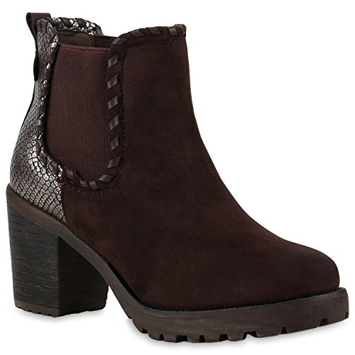 Chelsea Snake Stiefelparadies Women's Boots Dunkelbraun npZ5q7axw0