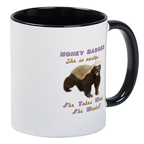 - CafePress - Honey Badger Takes What She Wants Mug - Unique Coffee Mug, Coffee Cup