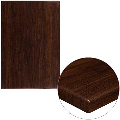 45' Rectangular Table Top (BBD 30'' x 45'' Rectangular Resin Walnut Table Top)