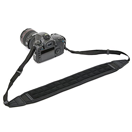 DSLR Camera Shoulder Strap, Camera BIRUGEAR Ultra Comfort Air Cushion Non-Slip Neoprene Neck Shoulder Strap For Canon, Nikon, Sony, Panasonic, FujiFilm, Olympus and more Digital SLR Camera - Black