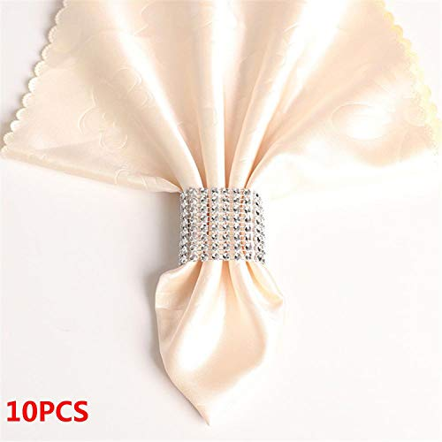 Miao Express 10PCS Wedding Table Decorations Nickel or Rose Gold Plated Napkin Rings,5]()