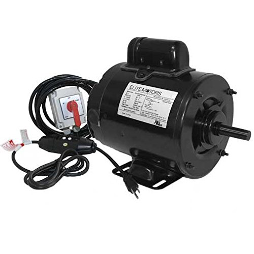 (Elite 1 HP Painted 56 Frame Boat Lift Motor - Maintained Switch / 110v / 16 ft. Control Cable)