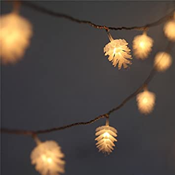 Amazon.com : Pine Cone Christmas Tree Lights, 8 Mode Battery ...