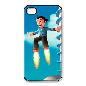 Plastic Durable Cover Vrbkc iPhone 4,4S Cell Phone Case Black Astro Boy Unique Phone Cases