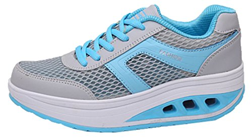 Laruise Women's Sports Breathable Casual Shoes Blue 5UvCk