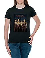 Maneskin Band T-shirt Dames Korte Mouw Zwart Women Black Tee