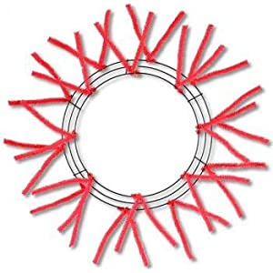 "16"" Wreath Base/Work Form - Red 98"