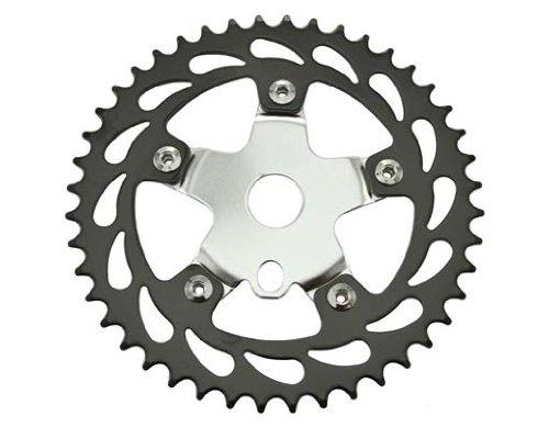 Sprocket 913 44t 1/2 X 1/8 Black/Chrome. for bicycles, bikes, for lowriders, beach cruiser, strech bikes, limos, chopper cruiser
