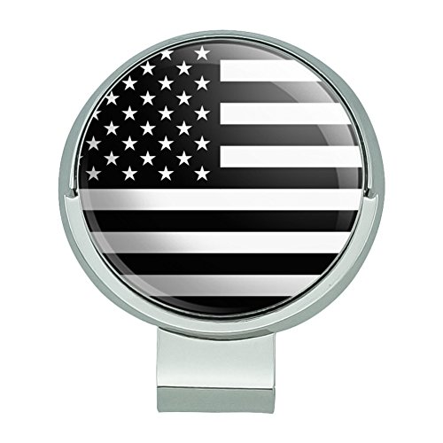 GRAPHICS & MORE Subdued American USA Flag Black White Military Tactical Golf Hat Clip with Magnetic Ball Marker