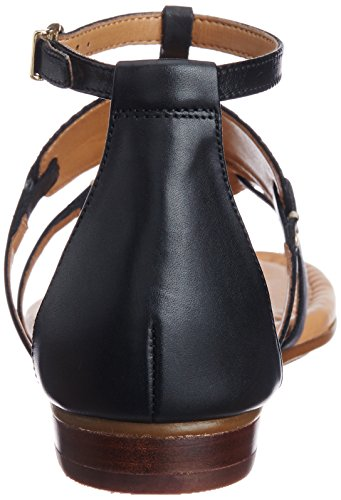 Viveca Donna Noir Nero Leather Clarks Black Sandali Athen 4tdtaw