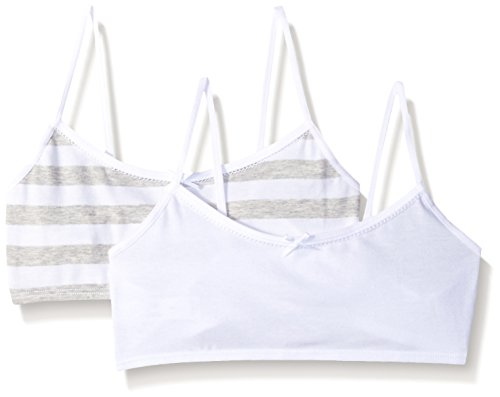 043db9742f3 Amazon.com: Hanes Girl's Crop Top Bralette (Pack of 2): Clothing